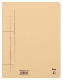 Schnellhefter, A4, 250g/m2, chamois kaufm. Heftung, für ca. 250 Blatt