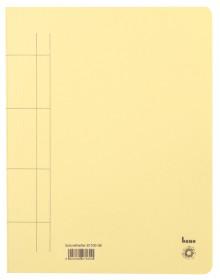 Schnellhefter, A4, 250g/m2, gelb kaufm. Heftung, für ca. 250 Blatt