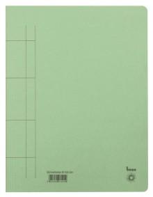 Schnellhefter, A4, 250g/m2, grün kaufm. Heftung, für ca. 250 Blatt