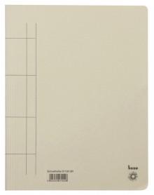 Schnellhefter, A4, 250g/m2, grau kaufm. Heftung, für ca. 250 Blatt