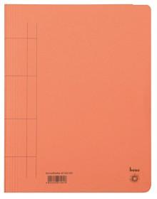 Schnellhefter, A4, 250g/m2, orange kaufm. Heftung, für ca. 250 Blatt