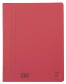 Schnellhefter, A4, 250g/m2, rot kaufm. Heftung, für ca. 250 Blatt
