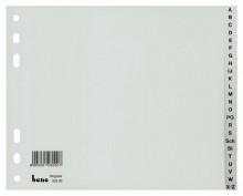 Kunststoffregister, A-Z, 24-tlg., A4 halbe Höhe, grau, Universal-