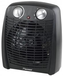 Heizlüfter, 2000W, schwarz variabler Thermostat, 4 Stufen