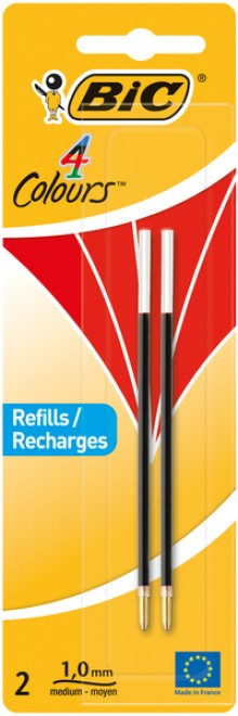 4-Farb-Kugelschreibermine rot 2er Blister, Strichstärke 0,4 mm