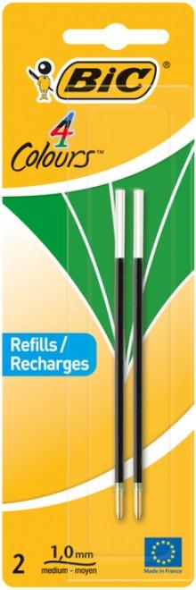 4-Farb-Kugelschreibermine grün 2er Blister, Strichstärke 0,4 mm