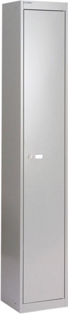 Garderoben- und Schließfachsystem, grau, 1 Fach mit Hutboden und