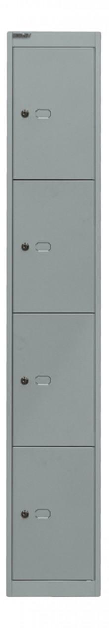 Garderoben- und Schließfachsystem, silber, 4 Fächer, 1802x305x457 mm