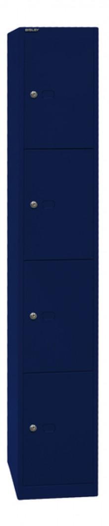 Garderoben- und Schließfachsystem, blau, 4 Fächer, 1802x305x457 mm