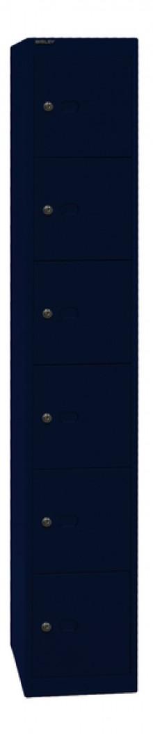 Garderoben- und Schließfachsystem, schwarz, 6 Fächer, 1802x305x457 mm