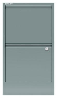 Hängeregistraturschrank, Home Filer 2 HR-Schubladen, silber