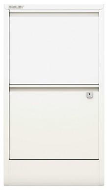 Hängeregistraturschrank, Home Filer 2 HR-Schubladen, verkehrsweiss