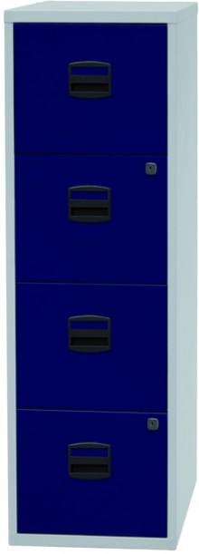 Hängeregistraturschrank PFA Einstiegsmodell, Grau/Oxfordblau