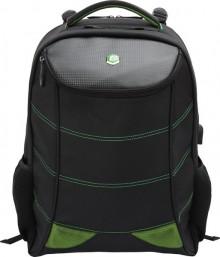 """Laptop Rucksack 17"""" Snake Eye Gaming schwarz/grün, USB, 3 Fächer"""