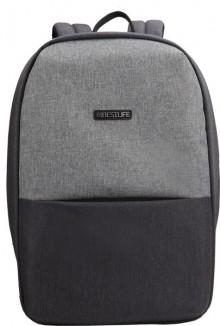 """Laptop Rucksack 15,6"""", Murada TravelSafe, grau, diebstahlsicher"""