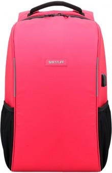 """Laptop Rucksack 15,6"""", Relleu TravelSafe, rot, diebstahlsicher, USB"""