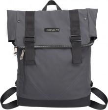 """Laptop Rucksack 15,6"""", La Minor Business, grau, mit Fronttasche"""