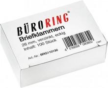 Büroring Briefklammern 26mm/100 verzinkt spitz-eckig