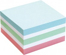 Büroring Haftnotiz Würfel pastell 75x75mm, 400 Blatt, FSC Quallität,