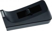 Büroring Klebefilm-Tischabroller aus Kunststoff,ungefüllt, schwarz,