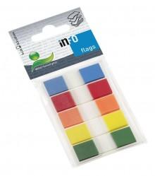 Büroring Index Haftstreifen rot, blau,grün,gelb,orange, Folie(PET)