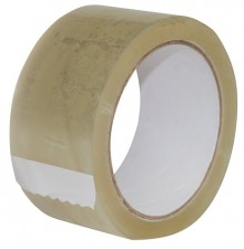 Packband 50 mm x 66 m, transparent leise abrollend, PP ,43 mic