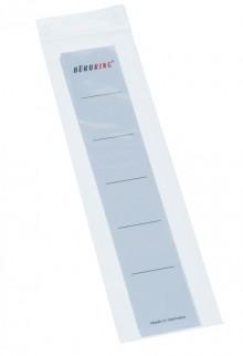 Einsteck Ordner Rückenschild, schmal weiß, 188x30mm, für PP Ordner