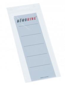 Einsteck Ordner Rückenschild, breit, weiß, 188x53mm, für PP Ordner