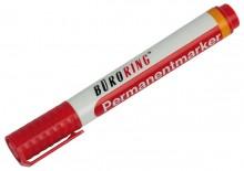 Büroring Permanentmarker, rot, Rundspitze 1,5-3mm