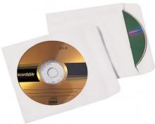 Büroring CD Hülle, Selbstklebend, weiß, 124 x 124mm mit Fenster, 90g, 100 stk.