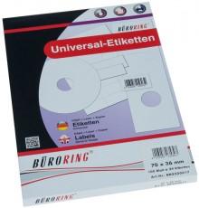 Büroring Etiketten, A4, 70 x 36mm, 2400 Etiketten