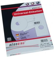 Büroring Etiketten, A4, 70 x 41mm, 2100 Etiketten