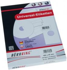 Büroring Etiketten, A4, 105 x 37mm, 1600 Etiketten