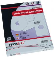 Büroring Etiketten, A4, 38,1 x 21,1mm, 6500 Etiketten