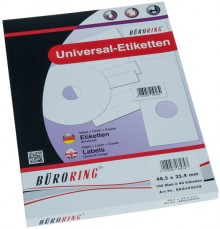 Büroring Etiketten, A4, 48,5 x 25,4mm, 4000 Etiketten