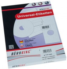 Büroring Etiketten, A4, CD Etiketten 117mm, weiß