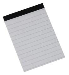 Büroring Notizblock, A7, 50 Blatt, liniert, ohne Deckblatt, weiß