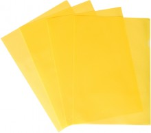 Büroring Aktenhüllen, genarbt, gelb, Sichtmappe 120my, PP-Folie