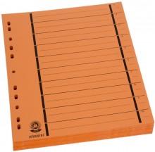 Büroring Trennblätter A4 orange vollfarbig, schwarzer Orgadruck