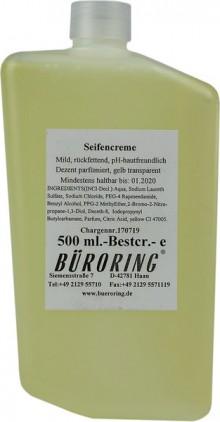 Seifencreme sehr mild, für CWS-Best- Cream-System,gelb,500ml,rückfettend,