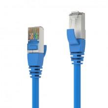 Patchkabel CAT 6A S/FTP, 0,5m, blau