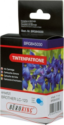 Tintenpatrone cyan für Brother, DCP-J132W, DCP-J152W, DCP-J172W,