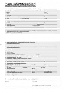 Fragebogen Anspruchsteller, A4, 2-seitig bedruckt, 100 Blatt je Pack
