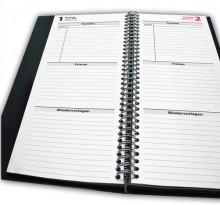 Fristenkalender 2019 TK2, schwarz, A5, Maß: 105 x 297