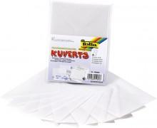 Kuverts aus Transparentpapier, blanko/weiß, 11x15,5cm