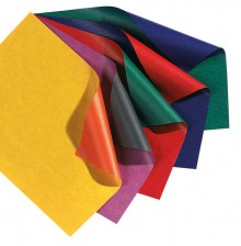 Geschenkpapier, 70x200cm, gelb/orange beidseitig unterschiedlich gefärbt,