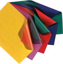 Geschenkpapier, 70x200cm, blau/hochrot beidseitig unterschiedlich gefärbt,