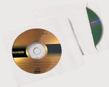 Büroring CD Hülle, Selbstklebend, weiß, 124 x 124mm mit Fenster, 90g, 2000 stk.