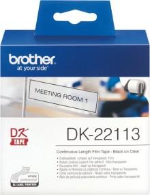 Film Etiketten 62mmx15,24m farblos für Brother QL500/QL550/QL-500A/