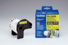 Film Etiketten 62mmx15,24m gelb für Brother QL500/QL550/QL-500A/